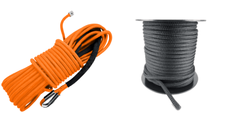 this is to show double braided synthetic winch rope for 4x4 off road