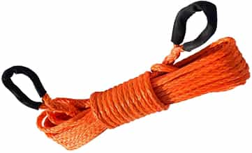 synthetic winch rope orange