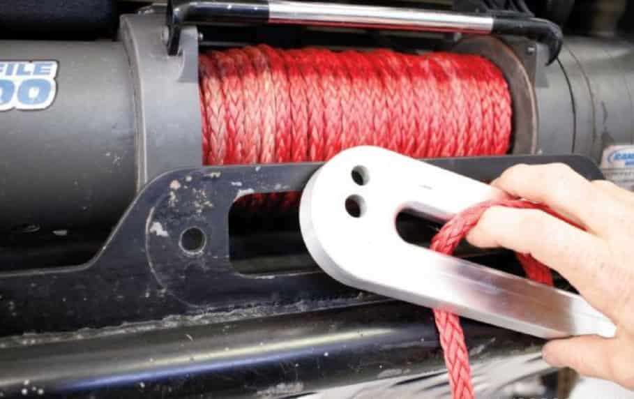 this is to show the winch cable for offroad winch